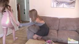 Chloe gets a spanking for not doing homework